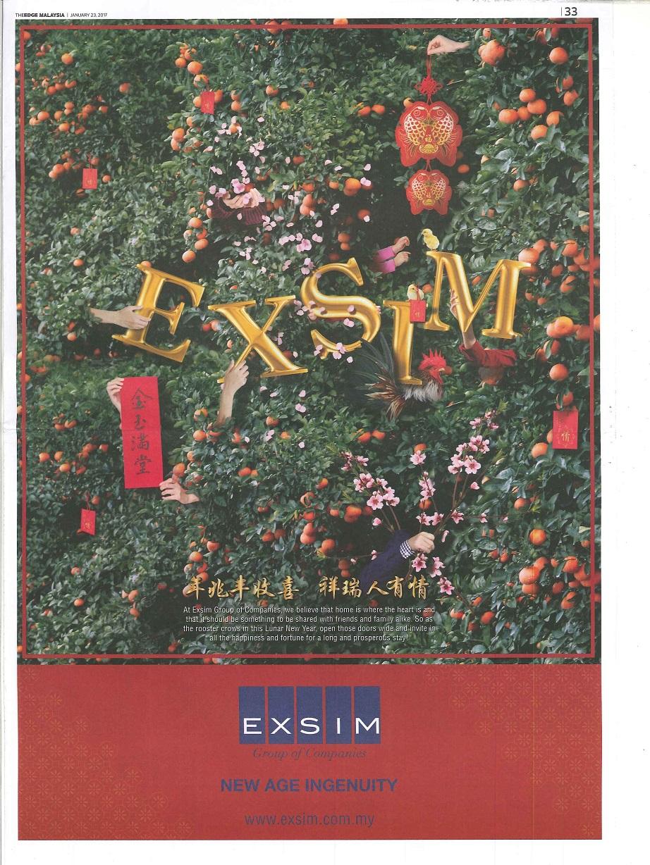 EXSIM - The Edge Malaysia 23 Jan 2017